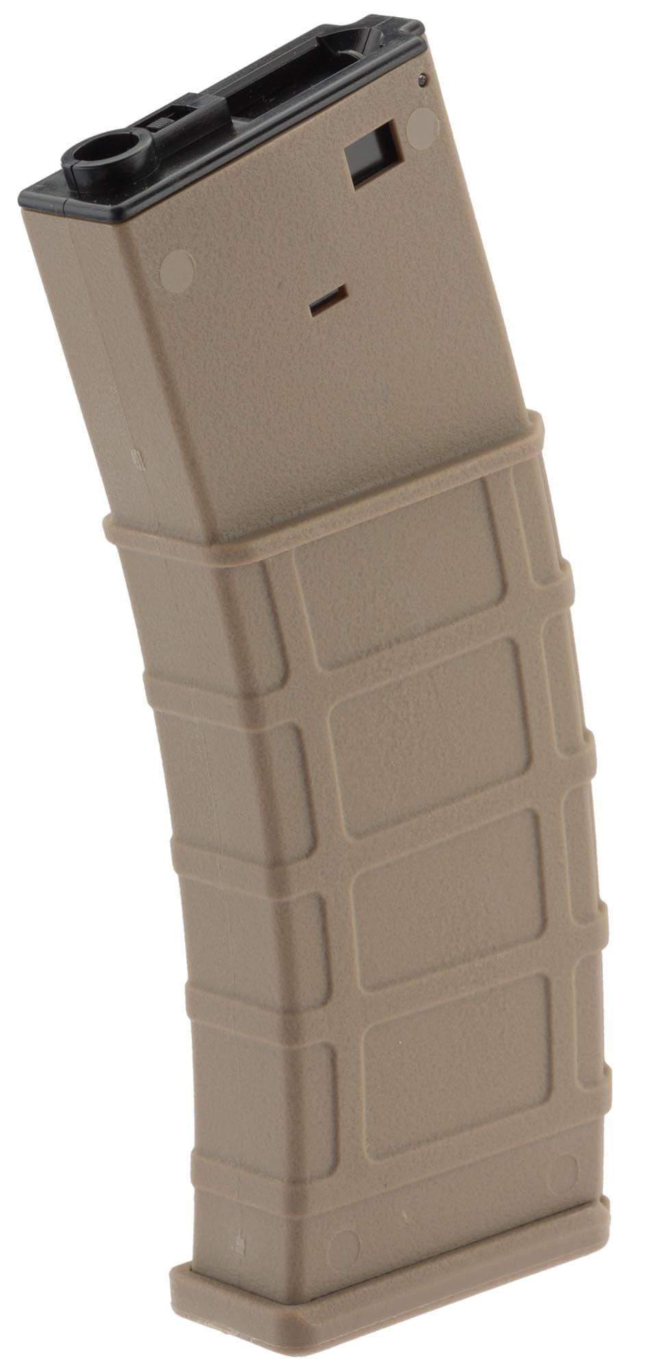 Photo Airsoft Magazine Polymer Flash Hi Cap 360 rds for M4-M16 (made by Lonex) - Tan
