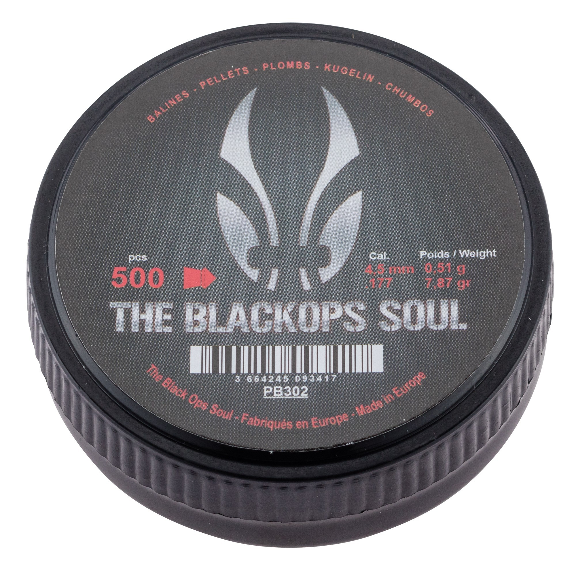 Photo BO Manufacture The Black Ops Soul Pointed pellets Cal. 4.5 mm