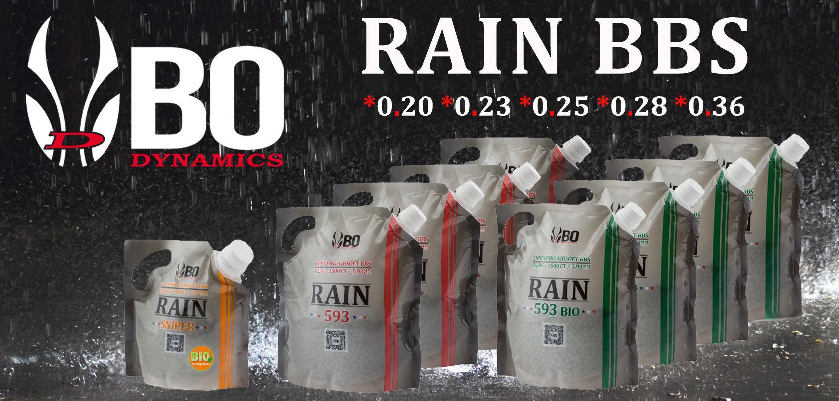 Photo BBS BO RAIN 595 BIO - 3500 rds - 0,25g